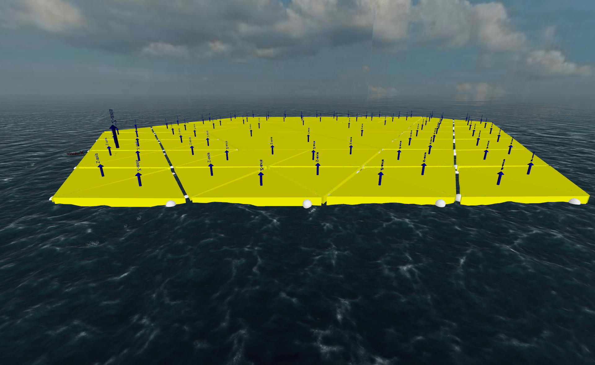 A numerical simulation of the MARIN floating island.
