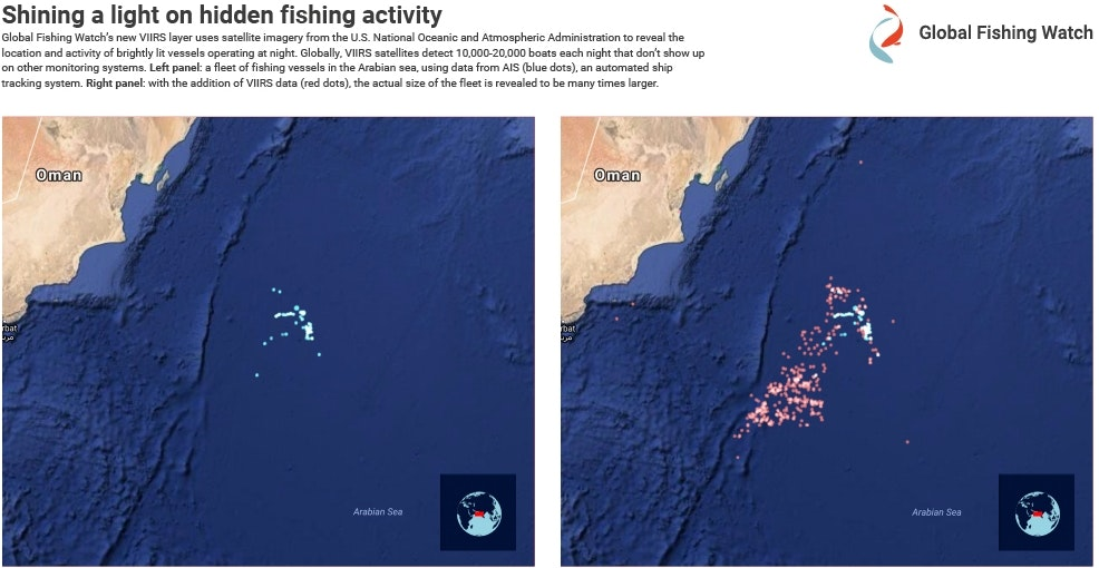 "Global Fishing Watch Uses Satellite Technology to Monitor ""Dark"" Illegal Fishing"