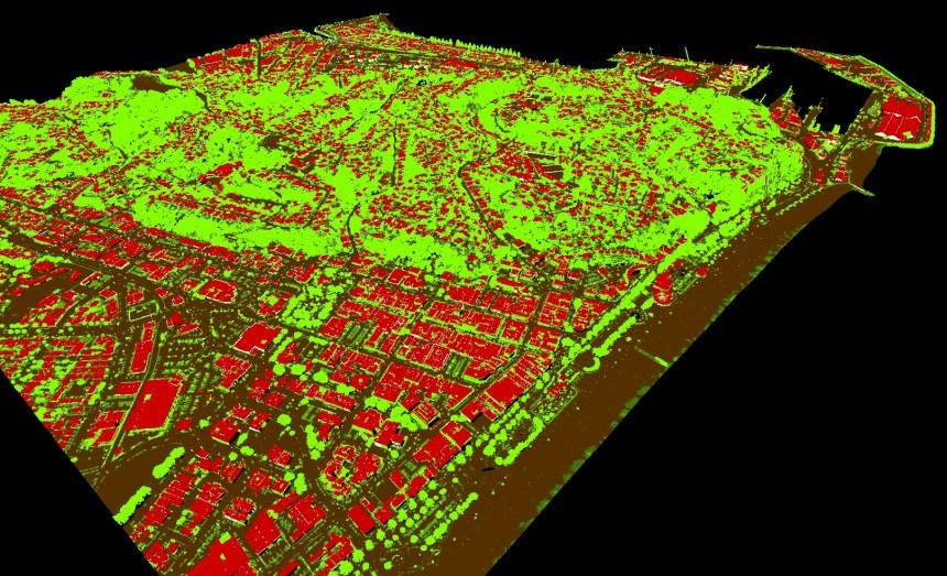 Point cloud data over Napier NZ