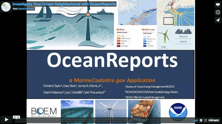 OceanReports webinar