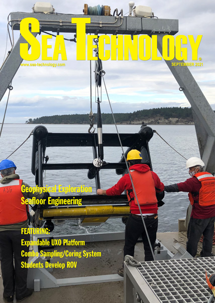 September 2021 cover of Sea Technology magazine