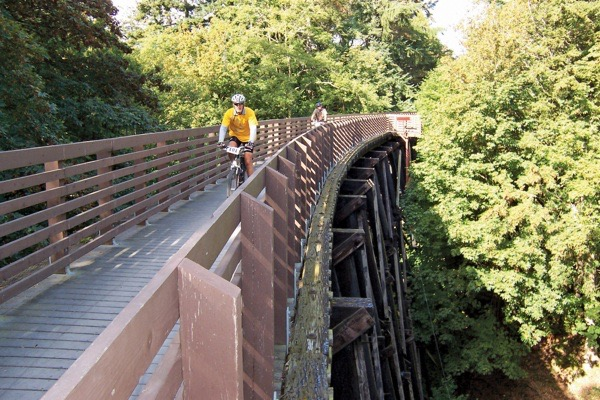 olympic discovery trail trestle