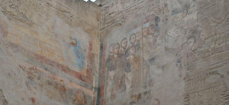 temple louxor peintures romaines