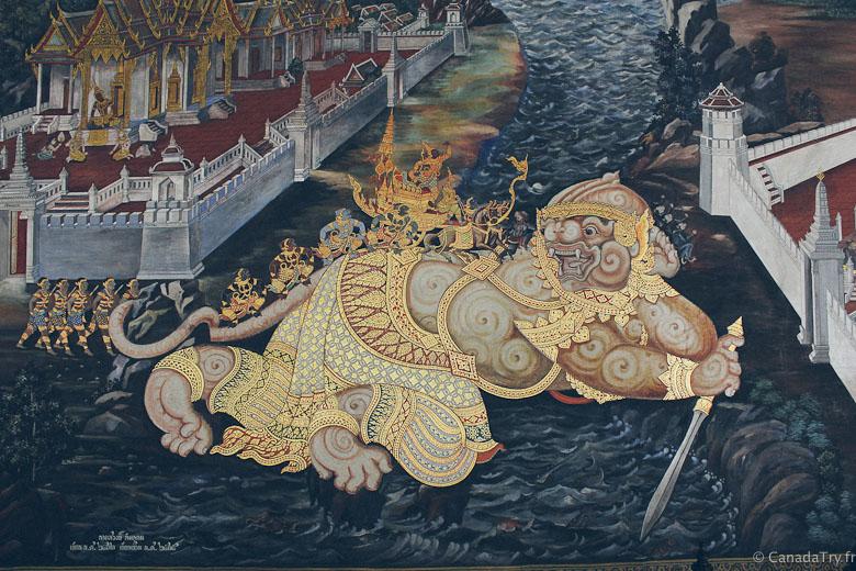 palais royal bangkok peinture ramayana