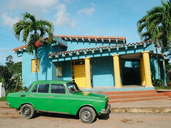 maison colorée vinales cuba
