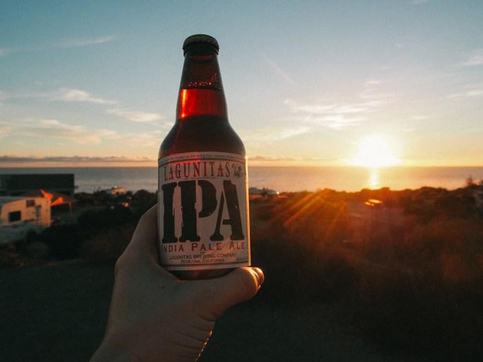 biere coucher de soleil californie