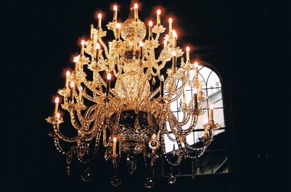 octagon room chandelier