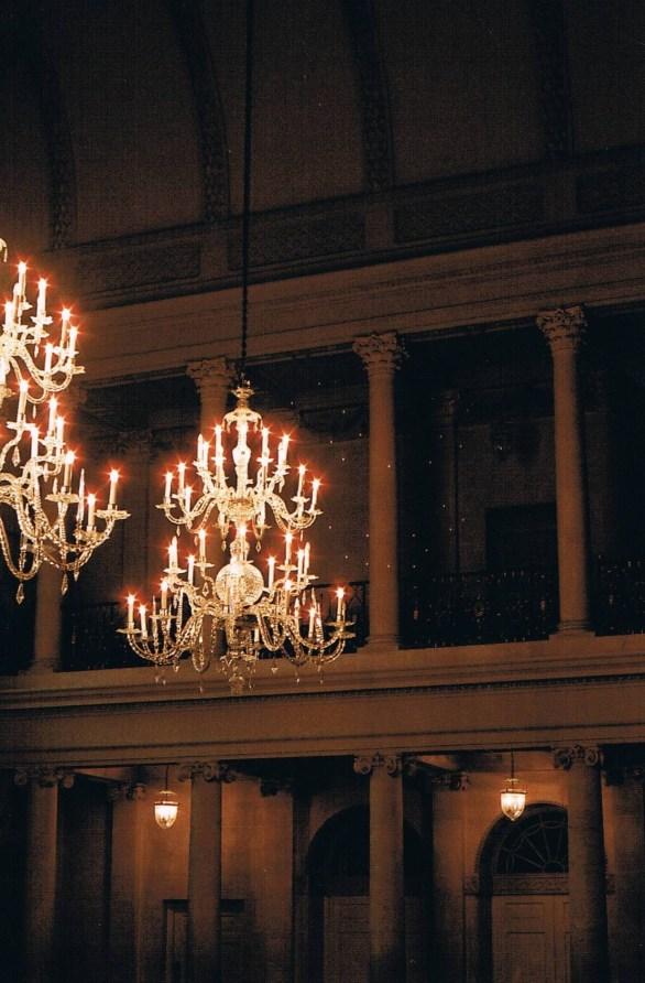 tea room chandeliers