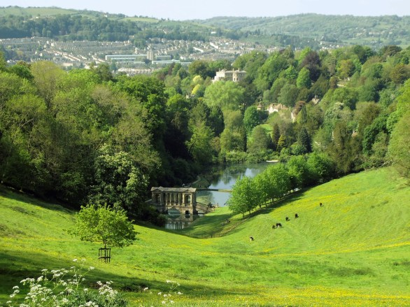 prior park and bath in the distance