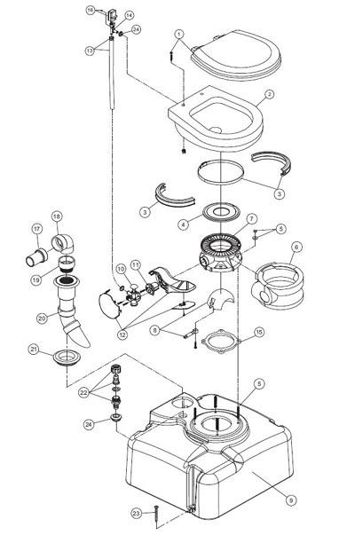 Traveler® Toilets - Traveler® Toilet M28 - 711 M28 Parts ...