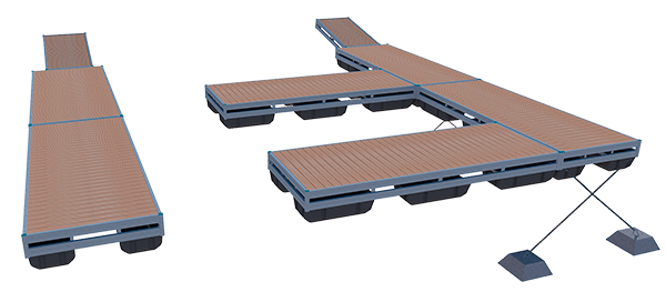 versatile aluminum docking system
