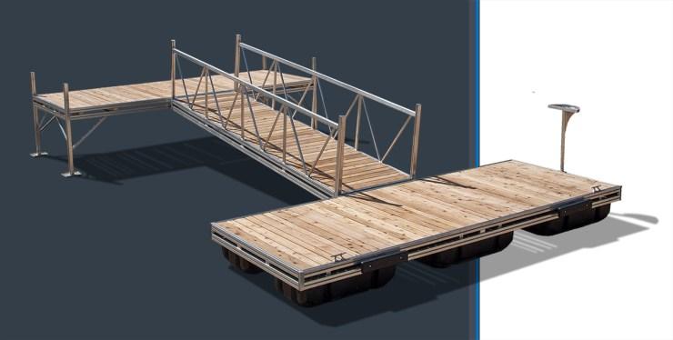 aluminum floating dock