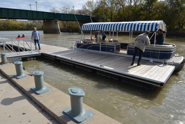 Aluminum dock system for the Forks Port in Winnipeg, Manitoba