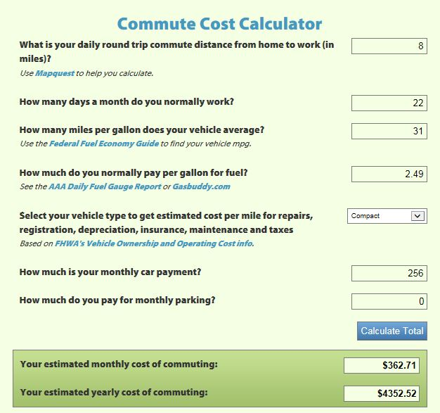 commute calculator
