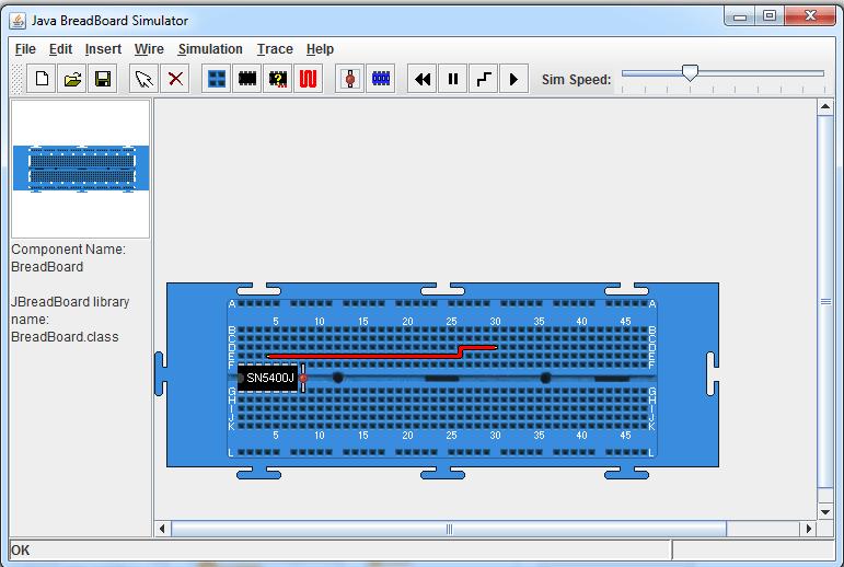 Java Breadboard sim