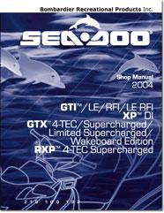 2004 SeaDoo GTI, GTI LE, GTI RFI, GTI LE RFI, XP DI, GTX 4