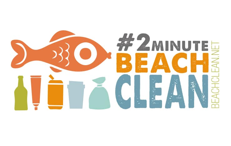 2 Minute Beach Clean typography Logo
