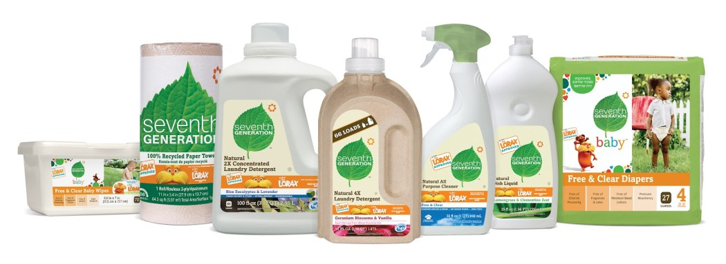 A range of seventh generation cleaning products.