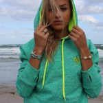 Shop: A Devocean hoodie in light green.