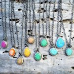 Shop: A selection of necklaces with rainbow coloured nurdles - made by Nurdle in the Rough.