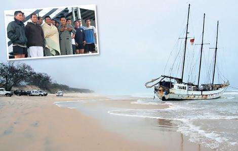 Arung Samudera aground in Australia