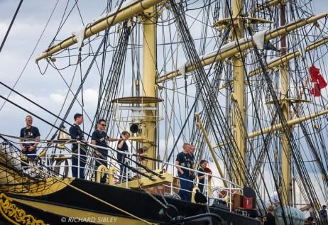 Danish full rigger, Georg Stage. Antwerp Tall Ships Race 2010