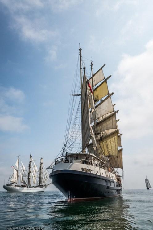 Mexican Barque Cuauhtemoc, British Barque Tenacious and Dutch Schooner Wylde Swan