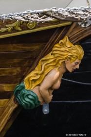 Figurehead on the Gaff Schooner, Rupel, Belgium