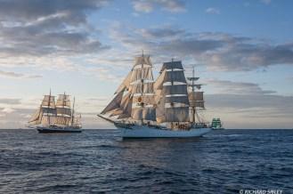 Barque Lord Nelson, Full rigger Sorlandet and Barque Alexander von Humboldt