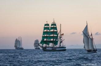 Cisne Branco, Eendracht, Lord Nelson, Alexander von Humboldt and Jens Krogh