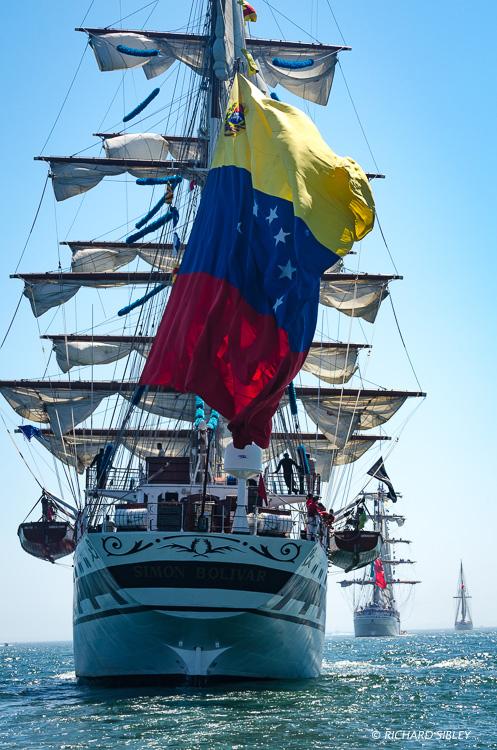 Venezuelan barque, Simon Bolivar, Mexican barque Cuauhtemoc and Schooner Creoula, Portugal