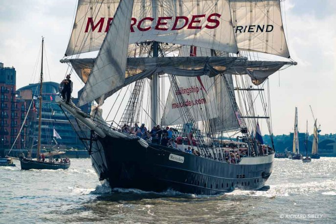 Dutch Brig Mercedes, Parade of Sail, Royal Greenwich