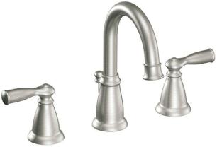 Bathroom Vanity & Cabinet Build Project: Design by Seagrain Design   Moen Banbury 8-in. spread faucet in brushed nickel