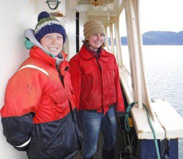 two women on ship