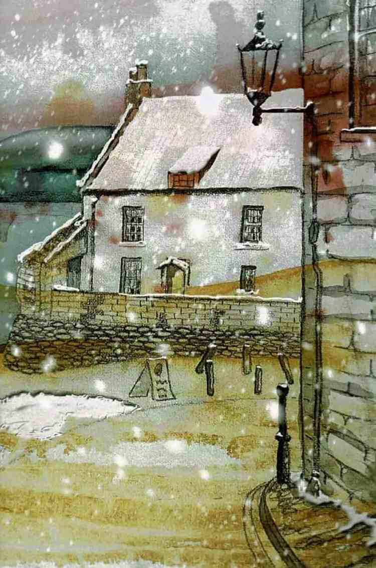 Snow in Robin Hoods Bay