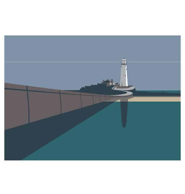 St Marys Lighthouse - Landscape
