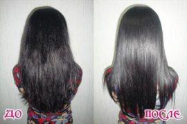 выпрямление волос до и после3