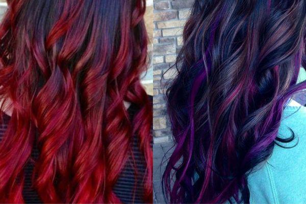 Ljusfärgning på mörkt hår