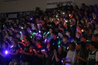 The Seahawk student section performed a finger light dance during the halftime of the boys game.
