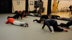 YOKOSUKA, Japan (Jan. 31, 2017) – Fleet Activities (FLEACT) Yokosuka's Nile C. Kinnick High School wrestling team prepares for the Japan Finals, the last home event for the Red Devils scheduled for 9 a.m. Saturday, Feb. 4. FLEACT Yokosuka provides, maintains, and operates base facilities and services in support of 7th Fleet's forward-deployed naval forces, 83 tenant commands, and 24,000 military and civilian personnel. (Photo by Kristina Mullis/170131-N-LV456-001 Released by FLEACT Yokosuka Public Affairs Office)