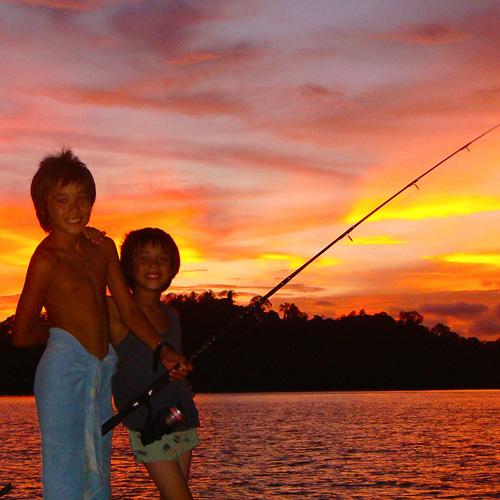 Fishing for dinner @ GoSeaCamping