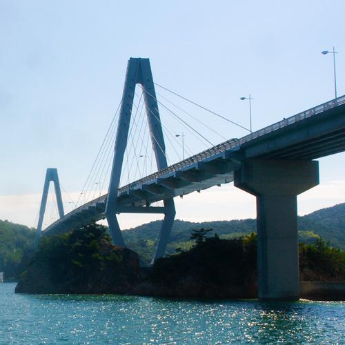 Yuge bridge from Tiare mooring