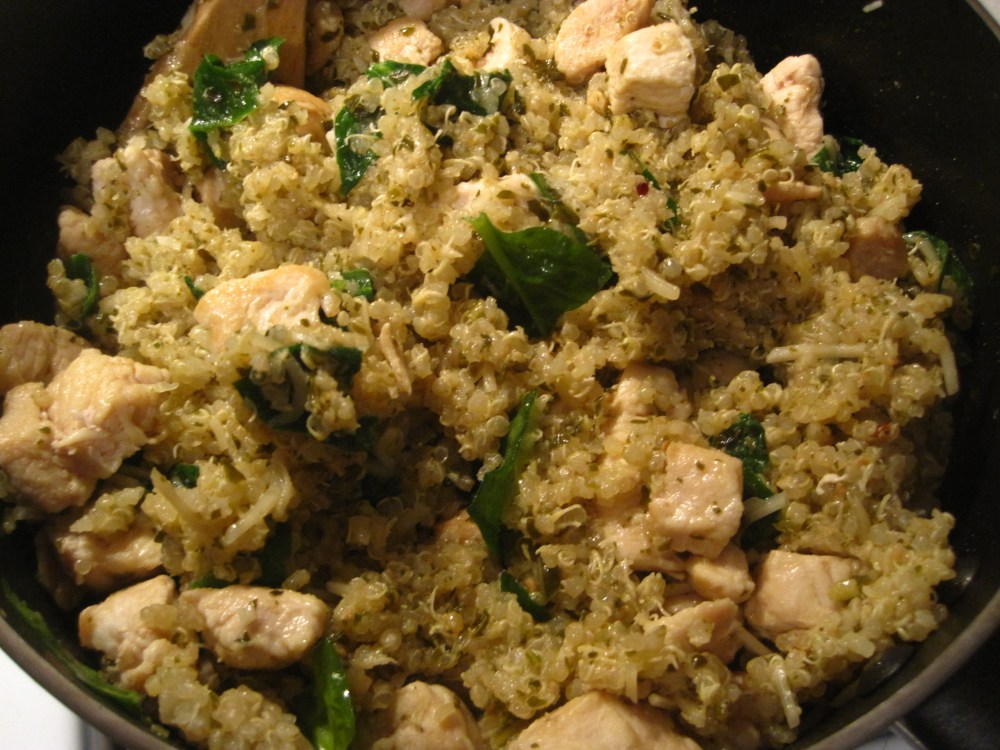 Chicken, Pesto, and Spinach Quinoa (4/4)