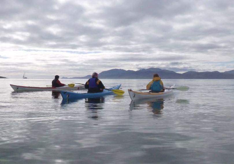 Women's sea kayaking weekend, Carry Farm, Argyll