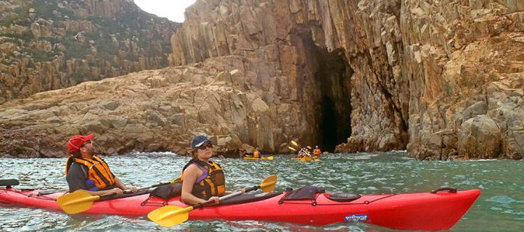 sea kayaking in China