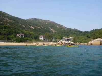 sea kayak hong kong lamma island beach