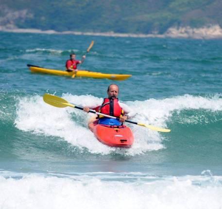 surfing in Big Wave Bay, Hong Kong