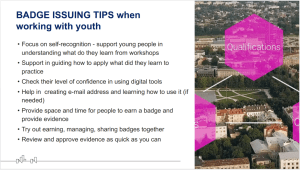 Open Badges for Young People