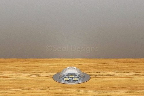 10 x 30mm Crystal Dome Kit – White – Stainless Steel Bezel