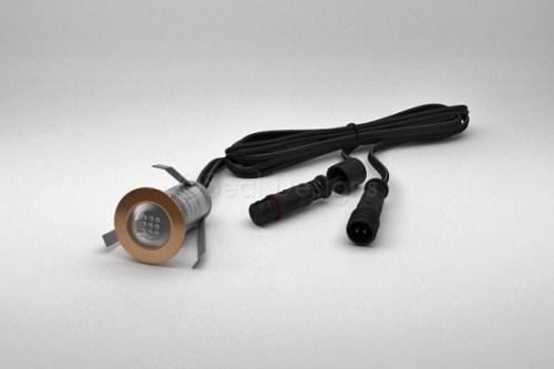 1 x 18mm LED Light Fitting Copper Round Bezel